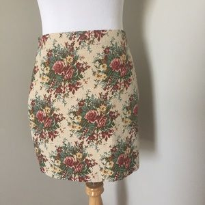 Urban Outfitters Carpet Print Skirt with Zipper